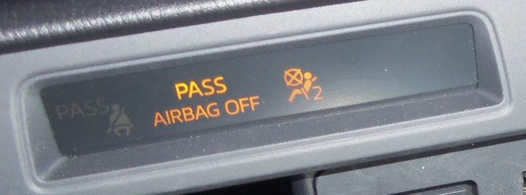airbag message panel