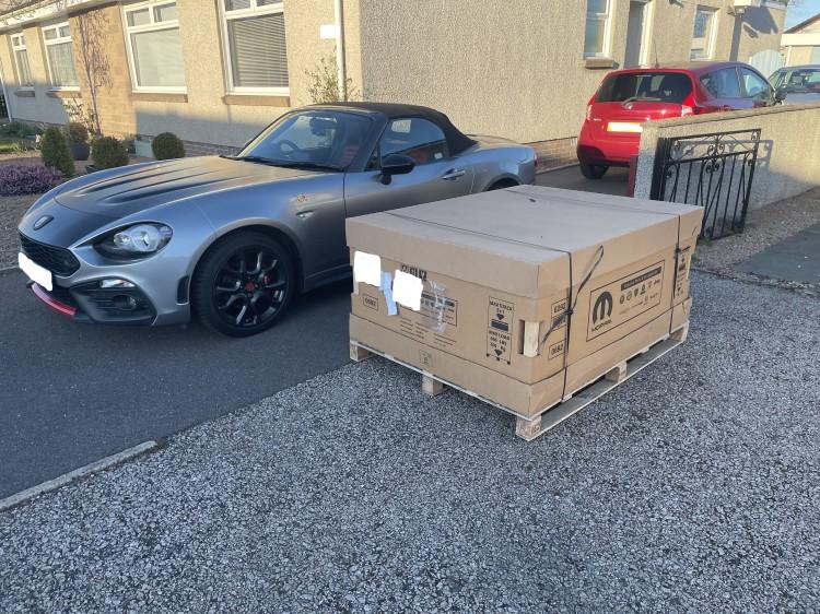 GT hardtop in crate