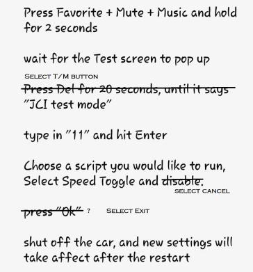 JCI test mode