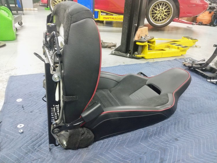 seat with new brackets